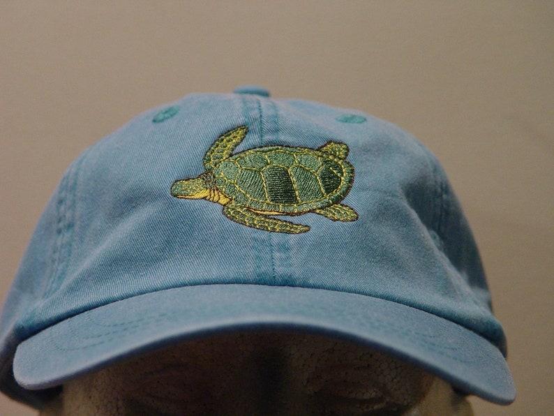 3cabf321ddac0 SEA TURTLE HAT Embroidered Men Women Marine Wildlife Cotton