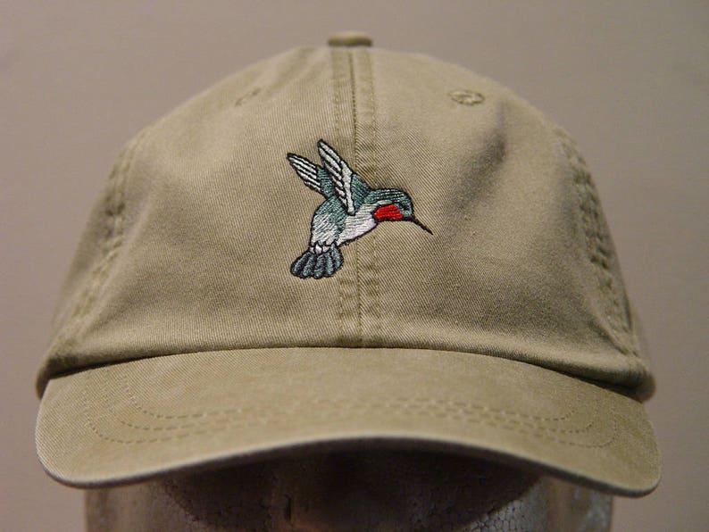 HUMMINGBIRD Hat One Embroidered Men Women Wildlife Bird Cap  0bb160bbeb0d