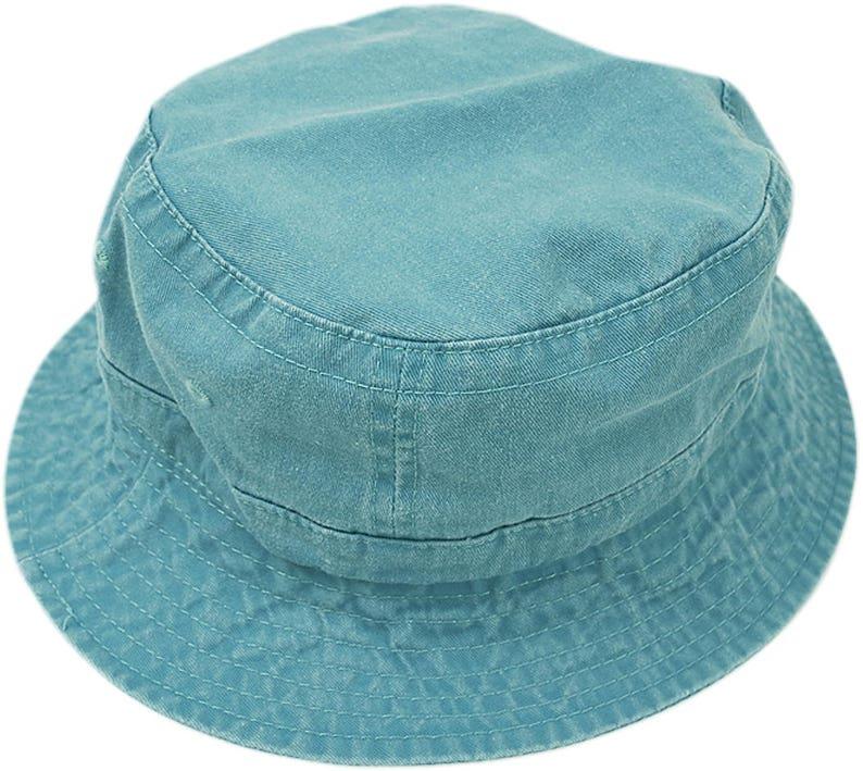 97845411291 CARIBBEAN BLUE XL Bucket Hat Women Men Mom Dad Adams Cap
