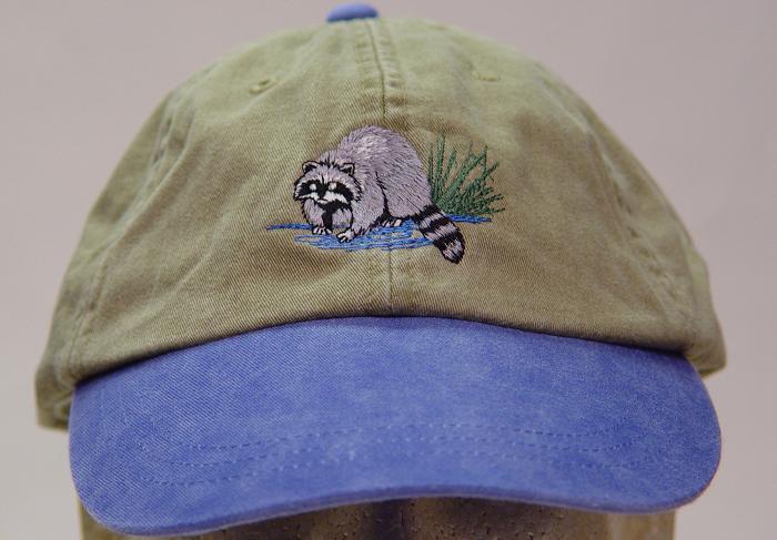 RACCOON HAT One Embroidered Men Women Wildlife Baseball Cap  9ff3d0de76e