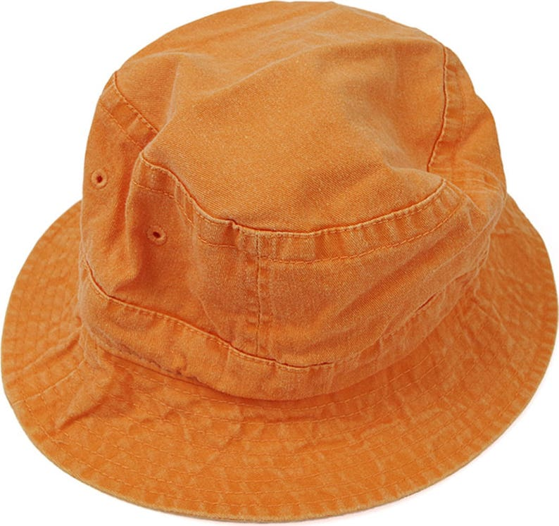 babb3adcc83 TANGERINE ORANGE XL Bucket Hat Women Men Adams Casual Gift