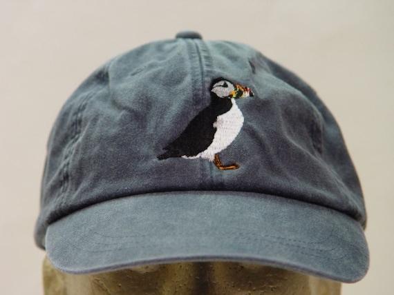 Puffin Bird Hat One Embroidered Wildlife Cap Price Etsy