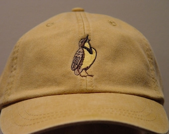 WESTERN MEADOWLARK Bird Hat - One Embroidered Wildlife Cap - Price Embroidery Apparel - 24 Color Caps Available