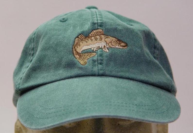 fb6113d95e2 WALLEYE FISH HAT One Embroidered Men Women Wildlife Baseball