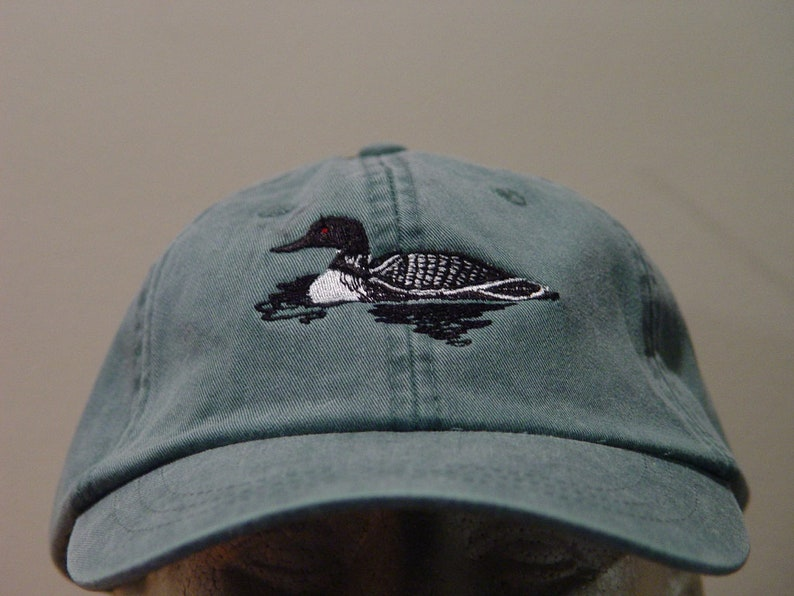 LOON BIRD HAT One Embroidered Men Women Wildlife Baseball Cap  978975492a0