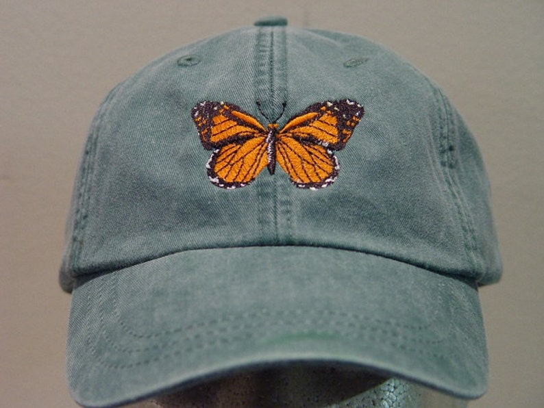 MONARCH BUTTERFLY HAT Embroidered Men Women Insect Wildlife Cap  26ea4002e02