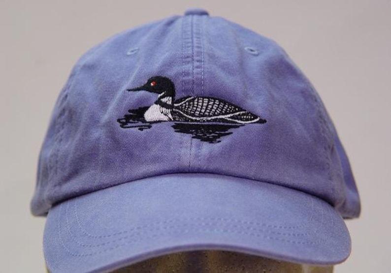 0274844bb9c LOON BIRD HAT One Embroidered Men Women Wildlife Baseball