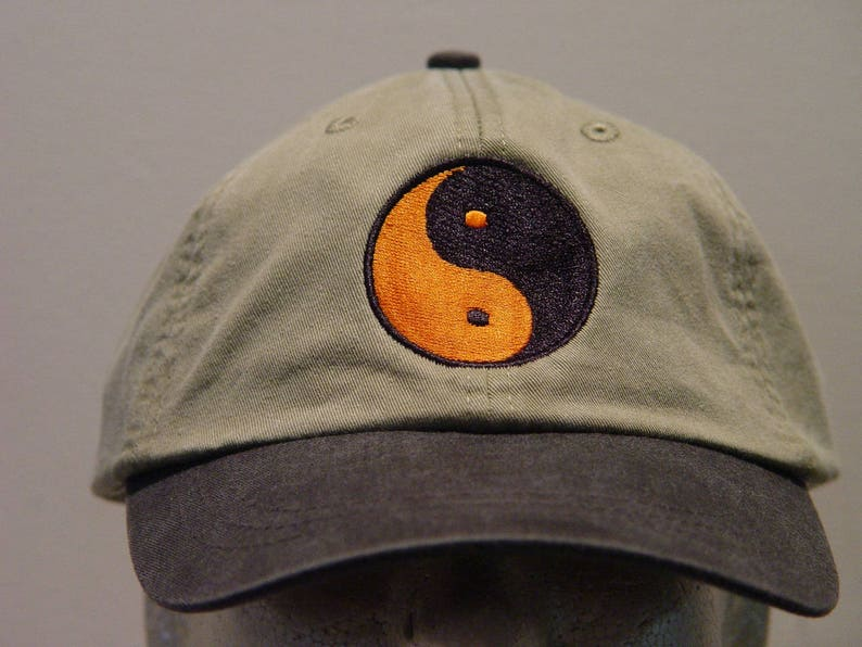 a492e2a6051 YIN YANG Symbol Hat Embroidered Chinese Philosophy Men Women