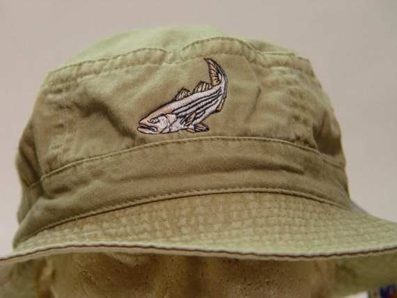 e6d19e99576 STRIPED BASS XL Fishing Bucket Hat Embroidered Women Men