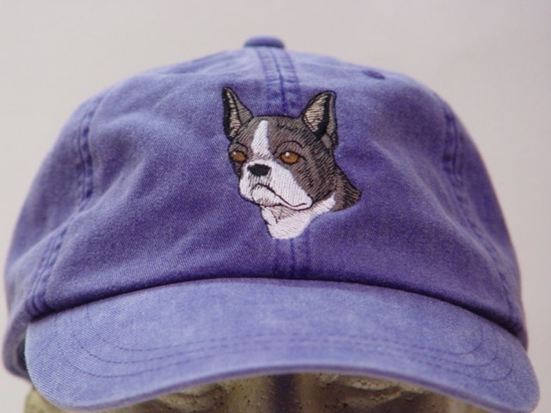 5dade304e5b BOSTON TERRIER DOG Hat One Embroidered Men Women Baseball