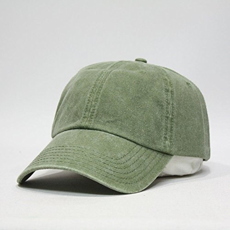 d530f4a915ad7 OLIVE GREEN HAT One Women Men Adams Low Profile Baseball Cap