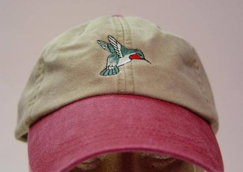 03402c6319b HUMMINGBIRD HAT One Embroidered Bird Women Men Wildlife Gift