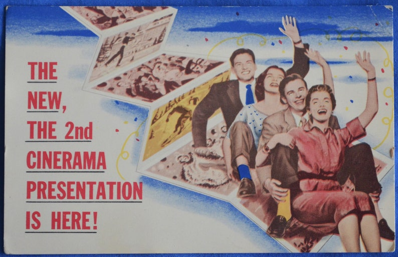 Cinerama Holiday 1955 Short Film Warner Theatre Pittsburgh Pennsylvania  Postcard Advertisement
