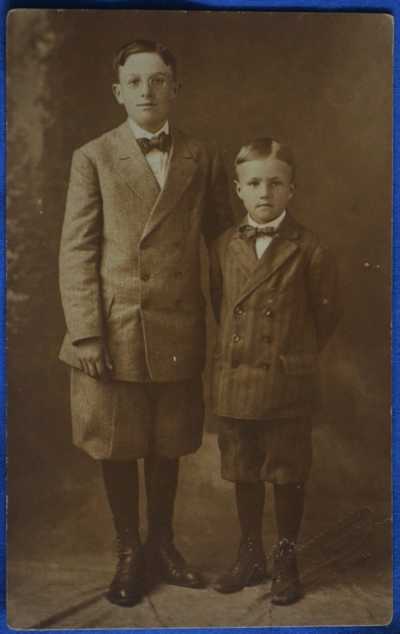 fc6be89f67b6 Two Boys Brothers in Knickers Knicker Suits 1920s Standard B W