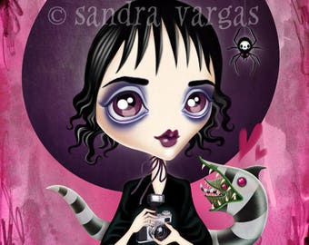 Strange and Unusual 8 x 10 Print Lydia Deetz Digital Illustration by Sandra Vargas