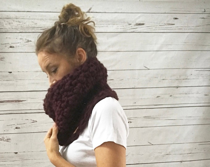 Featured listing image: Infinity Scarf Cowl | Wine Burgundy