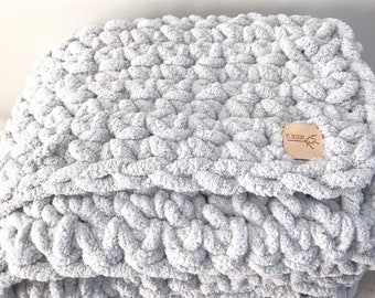 Giant Plush Throw Blanket : Light Gray