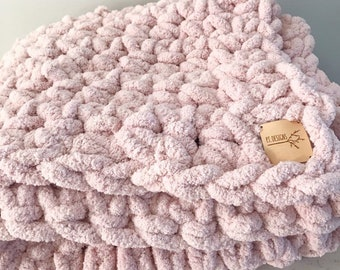 Giant Plush Throw Blanket : Blush Pink