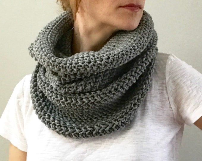 Featured listing image: Infinity Scarf Cowl | Heather Gray