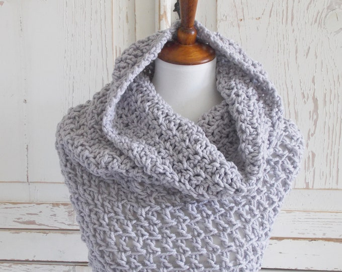 Featured listing image: Chunky Infinity Scarf Cowl + Certified Organic