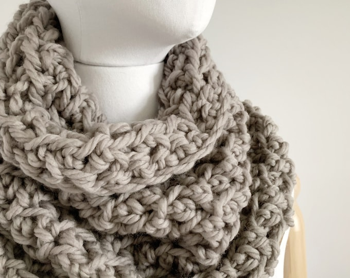 Merino Wool Infinity Scarf Cowl | STYLE #1042