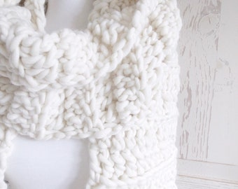 Oversized Chunky Scarf | Natural