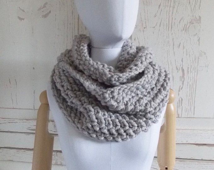Featured listing image: Infinity Loop Scarf | Style #1039 | Ash Gray