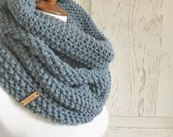Organic Merino wool cowl : Blue Gray