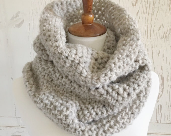Featured listing image: Brushed Fleece Cowl | Oatmeal
