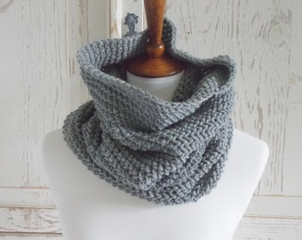 Infinity Scarf Cowl + Heather Gray