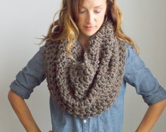 Chunky Infinity Scarf Cowl Shrug + STYLE #1004 + Barley + choose your color