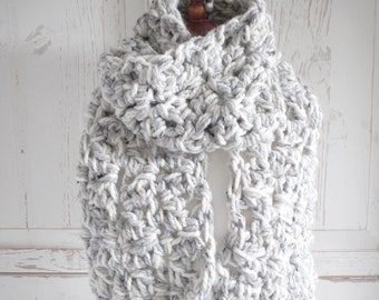 Oversized Chunky Scarf | Gray Cloud