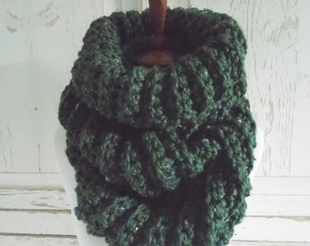 Chunky Infinity Scarf Cowl + STYLE #1036 + Kale
