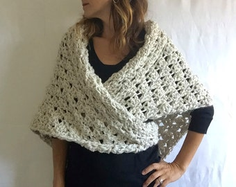 Triangle Wrap Shawl Scarf + STYLE #1025 + Beach Sand
