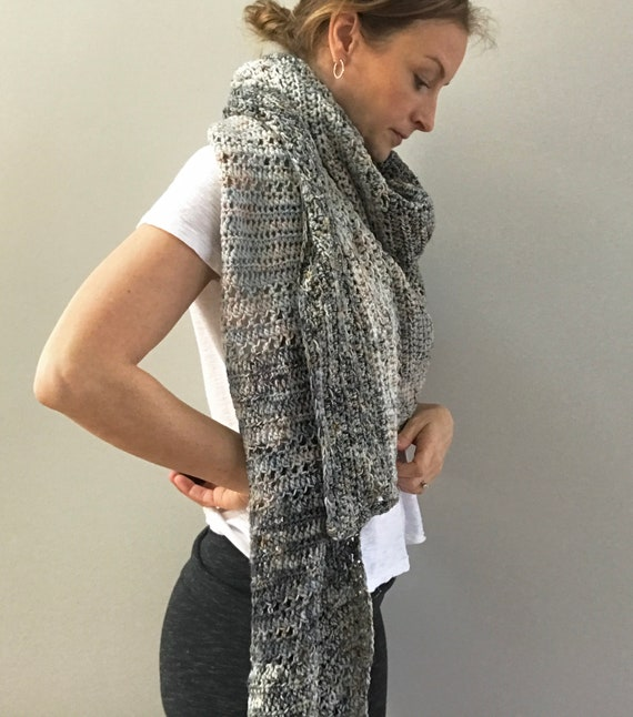 Merino Wool Triangle Wrap Shawl