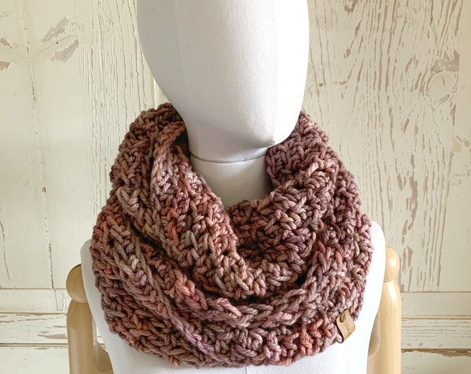 Chunky Infinity Scarf | Wineberry | Super Soft Merino Wool