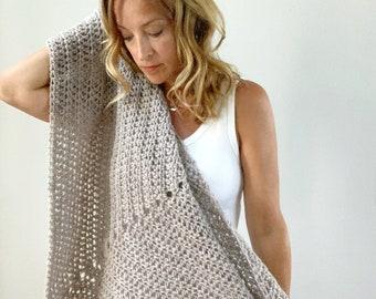 Triangle Wrap Shawl | Alpaca Oatmeal | Scarf | Fall Fashion | Boho | FREE SHIPPING