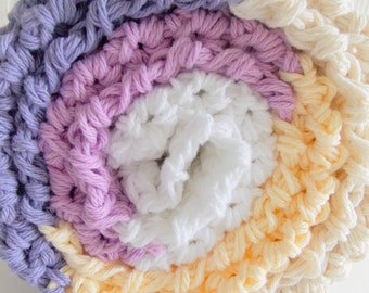 Cotton chunky crochet baby blanket / throw - lavender purple ORCHID - perfect baby shower gift for summer