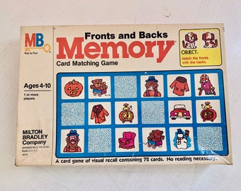 1980 Memory Game Fronts and Backs