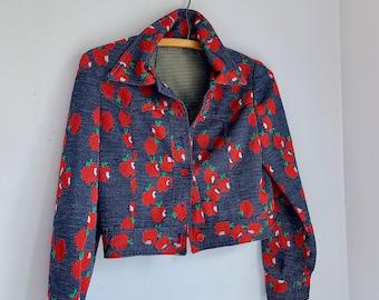 Vintage apple girls jean jacket size 12/14