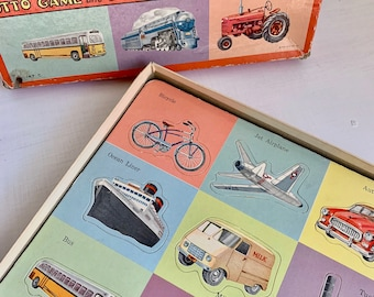 Vintage Puzzle Lotto Things That Go Transportation 1954