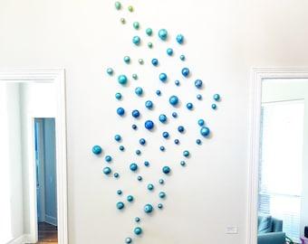 3D Wall Art | Sphere Wall Sculpture | Modern Art | Entry Wall Decor | Contemporary Art | Colorful Modern Wall Art | Custom Installation Art  sc 1 st  Etsy & Rosemary Pierce Modern Art Custom Wall by RosemaryPierceArt