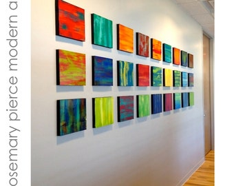 Modern Wall Art | Wooden Wall Art | Abstract Paintings | Contemporary Art |  Colorful Wall Art | Modern Office Art