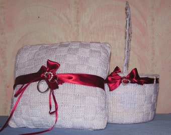 Ring Pillow and Flower Basket set