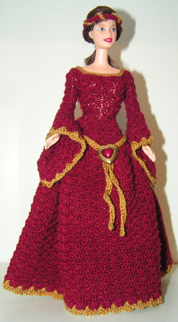 Crochet Pattern Barbie Guinevere Etsy