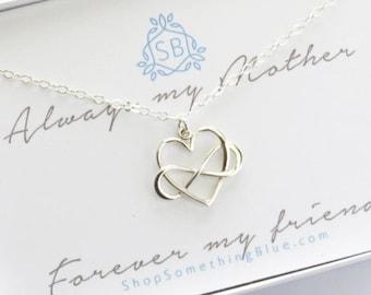 Muttertag Geschenk • Infinity Herz Kette • Herz & Unendlichkeitssymbol • Mutter Halskette • Mutter • Geburtstagsgeschenk für Mama • Muttertag