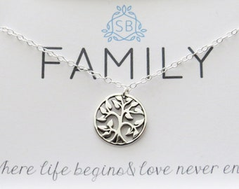 Gift for Mom • Tree Pendant • Tree of Life • Tree of Love • Family Necklace • Family Tree Necklace • Shel Silverstein • The Giving Tree