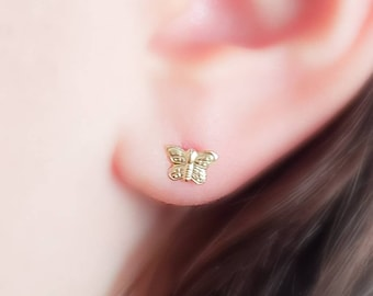 Tiny Butterfly Studs • Little Butterfly Earrings • Gift For Young Girl • Gold Butterflies • Tiny Studs • Delicate Earrings