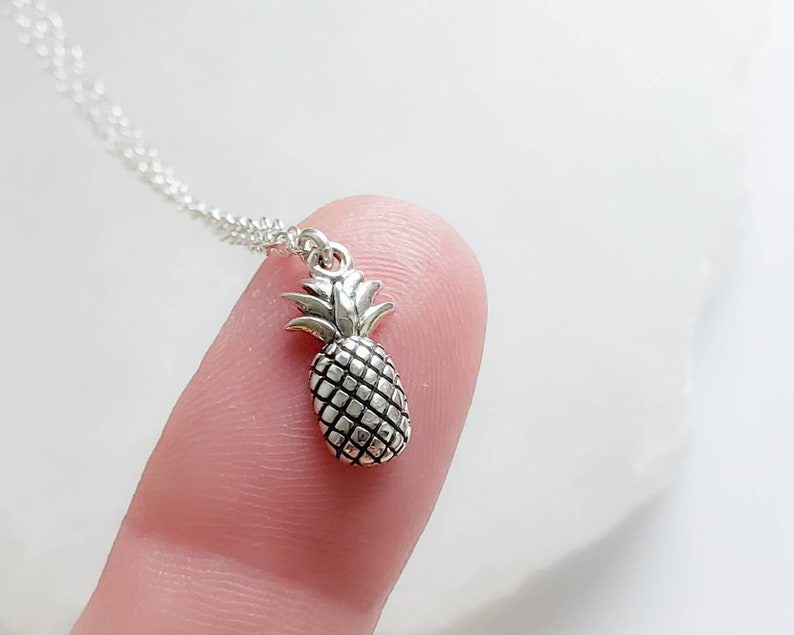Adorable Pineapple Necklace  Little Pineapple Pendant  image 0
