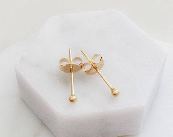 10k Gold Super Tiny Ball Studs • Delicate Stud Earrings • Minimalist Earrings • Round Gold Studs • Minimal Ball Studs • Dainty Studs